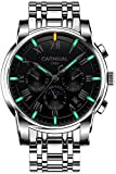 Men's Complications Automatic Mechanical Watch Military Tritium Gas Super Bright Blue or Green