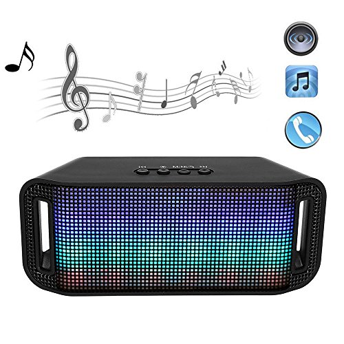 Portable Mini Stereo Super Bass Wireless Bluetooth Speaker LED Light for (9000 Stereo)