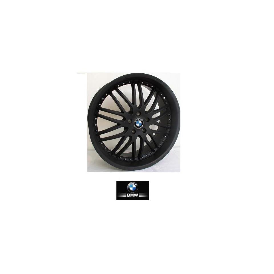 22  inch  Wheels/Rims BMW 7 SERIES 745 750 760 (Staggered 22x9.5/10.5) 2002 to 2009 set (4 wheels) BLACK