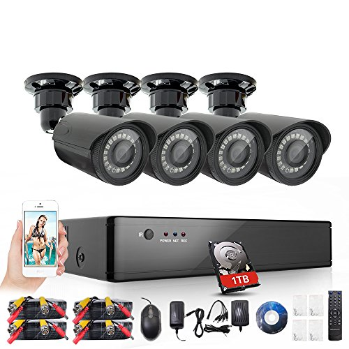 Rraycom Security Camera System 8 Channel 1080H HDMI - 8 Channel Security Cameras