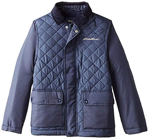 Eddie Bauer Boys' Jacket (More Styles Available), Quilted Navy, 5/6