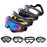 WOLFBIKE Super Black Motorcycle Cycling Bicycle Bike ATV Motocross Ski Snowboard Off-road Goggles FITS OVER RX GLASSES Eye Lens