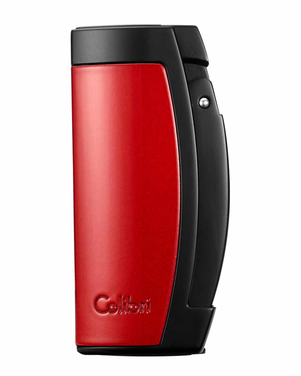 Colibri Enterprise III Triple Jet Cigar LIghter in an Attractive Gift Box Warranty Red Black by Colibri