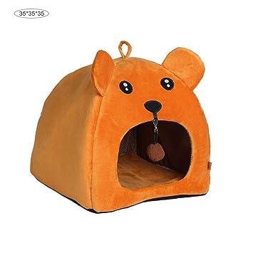 Peluche Pequeño Animal Cama Casa Jaula Lindo Invierno Suave Cálido Saco de Dormir Bolsa Animales de