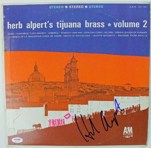 Herb Alpert Tijuana Brass Signed Album Cover W/Vinyl Autograph PSA/DNA #S80789