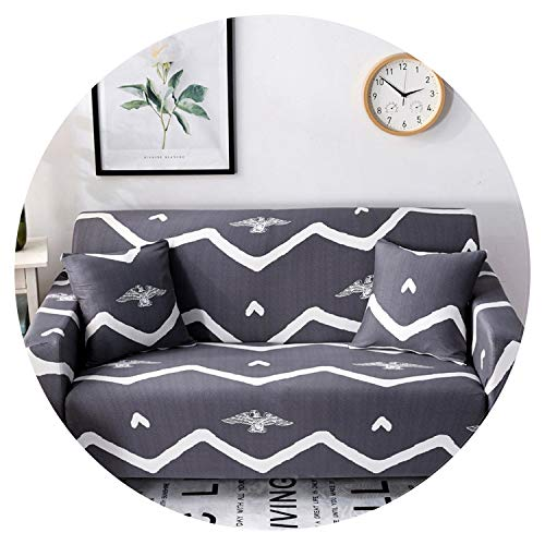 Elastic Slipcovers Sofa Universal Sofa Cover Cotton Stretch Sectional Couch Corner Cover Sofa Cover for Living Room Pets 1PC,Color 13,1-seat ()