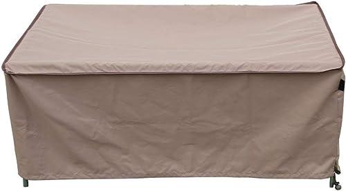 TrueShade Plus CT0363018TN Water Resistant Outdoor Coffee Table Cover, Medium 36 x 30 x 18 , Tan