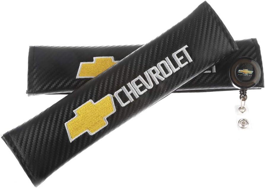 Clavel Autopartes 2pcs Car Seat Belts Covers Padding Carbon Fiber Leather Belt Shoulder Sleeve Mazda 1pc Retractable Badge Reel with Metal Belt Clip