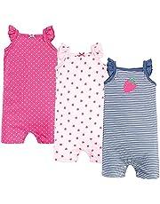 Hudson Baby Pelele Unisex de algodón, Color Rosa Fresa Conjunto de Playeras para bebs y Nios pequeos para bebés niños