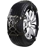 HomDSim Car Tire Anti-Skid Snow Chains,Thickened Beef Tendon TPE Steel Nail TPU, Universal Adjustable Auto Car Wheel Tyre Security Safe Chains Cables for Most Cars SUV Light Truck