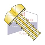 6-32X1/2 SEMS Screws | External Tooth Washers | Phillips | Pan Head | Steel | Zinc Yellow (QUANTITY: 10000)