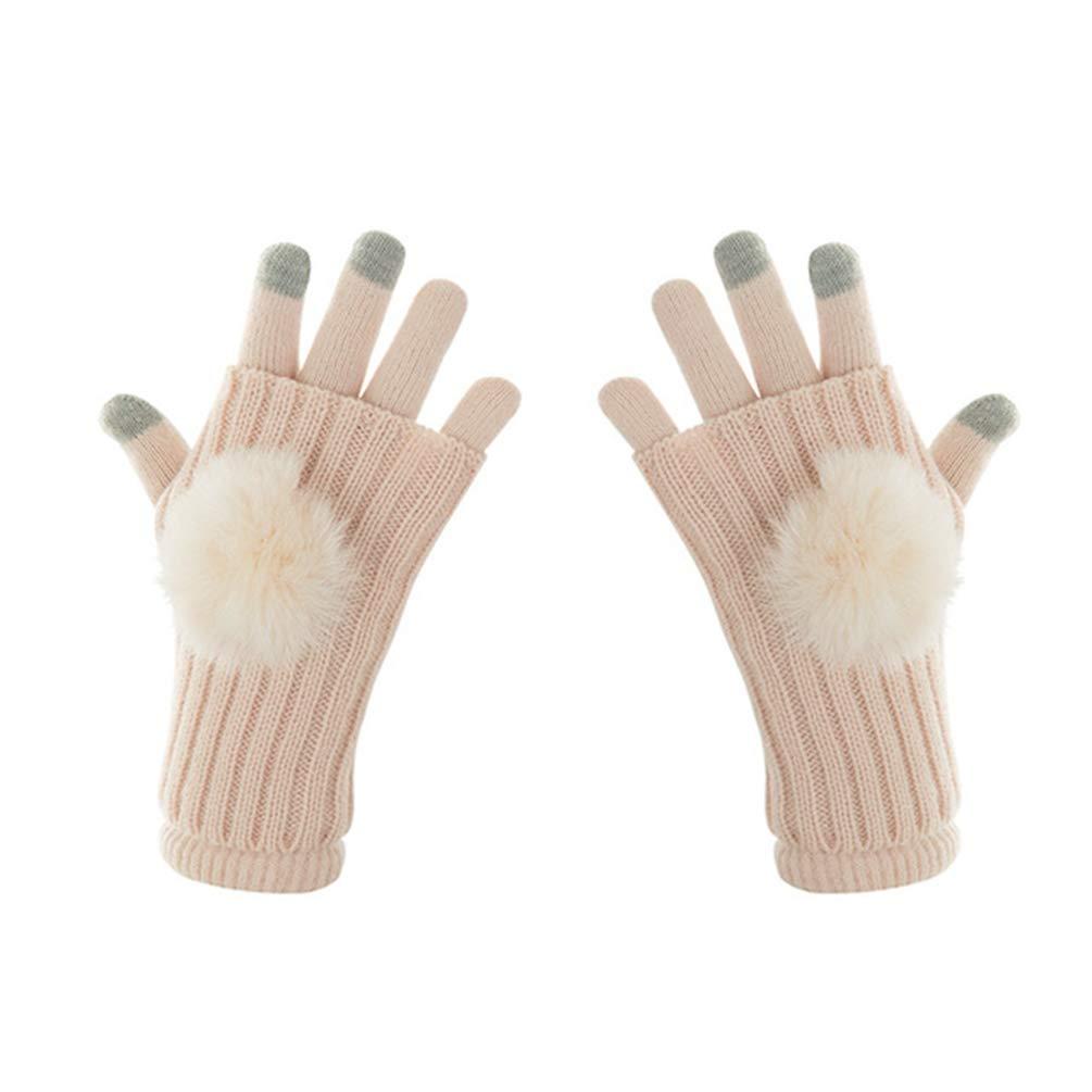 Children Screen Gloves Baby Winter Mittens Girl Warm Wool Knitted Full Finger Gloves