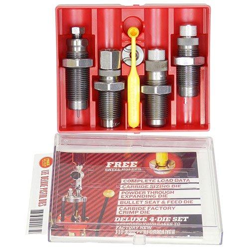 LEE PRECISION 90963 9-mm Carbide 4-Die Set Luger (Grey) by LEE PRECISION