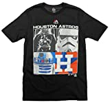 Houston Astros MLB Big Boys Youth Star Wars Main Character T-Shirt, Black