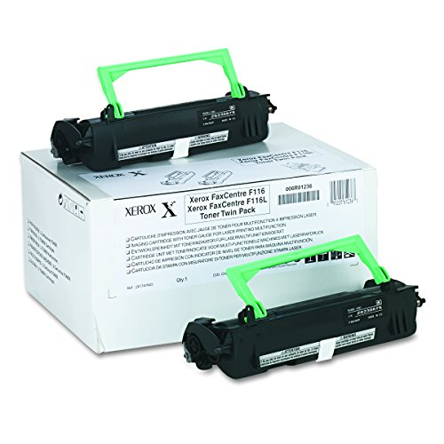 (Genuine Xerox Black Toner Cartridge for the FaxCentre F116 (2 Pack), 006R01236)