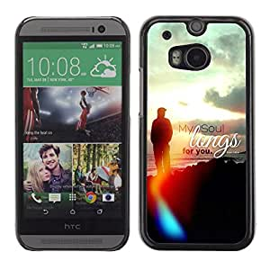 Planetar® ( Bible Verse-MY SOUL LONGS FOR YOU - PSALM 43:6 ) HTC ONE(New) / M8 Fundas Cover Cubre Hard Case Cover