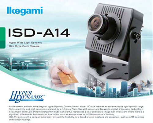 Ikegami ISD-A14-25, ISD-A14 Hyper Wide Light Dynamic Mini Cube Color Camera (2.5mm (A14 Lens)