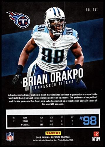 a29749865 Amazon.com: 2018 Prestige NFL #111 Brian Orakpo Tennessee Titans Panini  Football Card: Collectibles & Fine Art