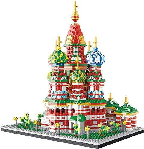 LAL6 Cathédrale Saint-Vasile World Famous Landmark 4600 + Pcs Nano Mini Blocs De Construction Kits De Construction pour Enfants Éducation Bricolage Jouets Cadeaux