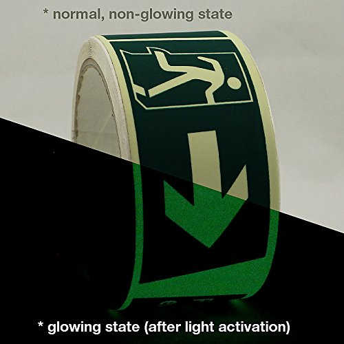 J.V. Converting GLW-S/FER505 JVCC GLW-S Glow in the Dark Signaling Tape: 2'' x 16.4 ft, Luminescent Lime green by J.V. Converting