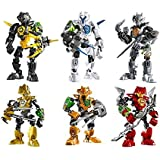 Action Figures & Statues,Classic Toys 6 Sets Space Marines Hero Factory Series Minifigures Building Block Toys for Lego Building Block Educational Toys,building Sets