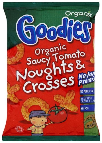 Organix Goodies From 12 Months Organic Saucy Tomato Noughts and Crosses 15 g (Pack of 24) Organix Brands 304101