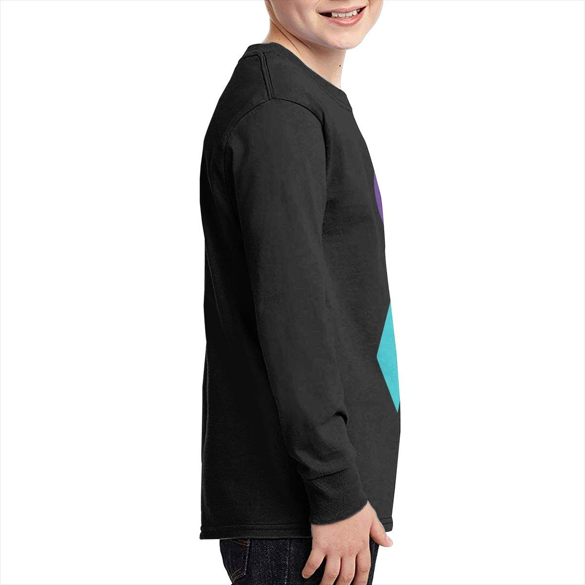 Teenagers Teen Boy Suicide Prevention Awareness Ribbon Printed Long Sleeve 100/% Cotton Tops