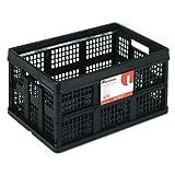 Universal 40015 Filing/Storage Tote Storage Box, Plastic, 20-1/8 x 14-5/8 x 10-3/4, Black