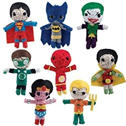 "20 DC Comics 2.5"" String Doll Party Favors (Includes Superman, Batman, Wonder Woman, Aquaman, Green Lantern, Robin, Flash, and the Joker"