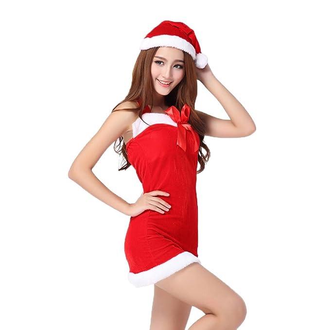 KOLY Gonne delle feste di Natale delle ragazze di Cosplay delle donne  erogenous Vestito principessa abito 3d28e56aff7