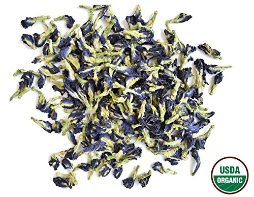 - Organic Dried Butterfly Pea Thai Herbals Blue Tea 100 Gram. (Original Version)