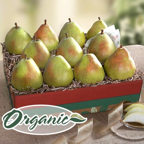 Organic D'Anjou Pears Deluxe Fruit Gift