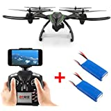 Dazhong 2.4G WIFI FPV Large-scale Drone with 2.0MP HD Camera,High Hold Mode, One Key Automatic Return + 2 Extra Batteries