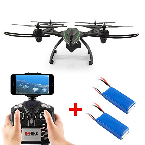Dazhong 2.4G WIFI FPV Large-scale Drone with 2.0MP HD Camera,High Hold Mode, One Key Automatic Return + 2 Extra Batteries by DAZHONG