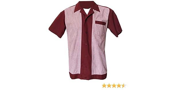 Rockabilly Fashions - Camisa casual para hombre con nudos de los años cincuenta, estilo retro vintage: Amazon.es: Ropa y accesorios