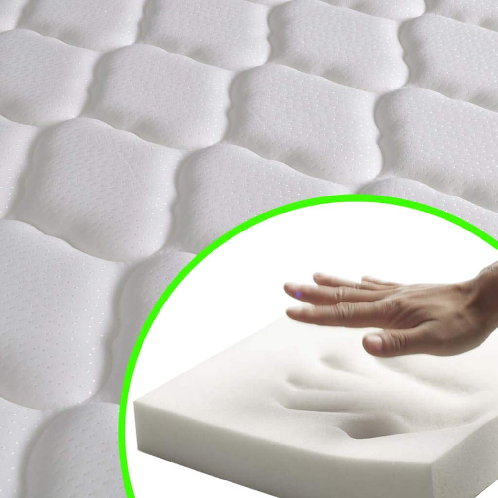 Festnight Lit avec Matelas 160 x 200 cm en M/étal Cadre de Lit avec Sommier Lattes Lit pour Adulte Blanc lit 2 Personnes