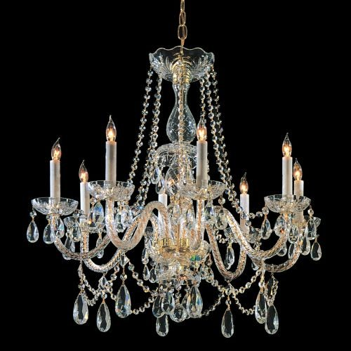 Bohemian 8 Light Candle Chandelier Finish: Chrome, Crystal Type: Swarovski Strass