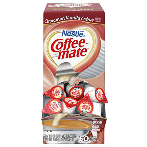 Coffee Mate Coffee Creamer, Cinnamon Vanilla Creme, 0.375oz liquid creamer singles, 50 count