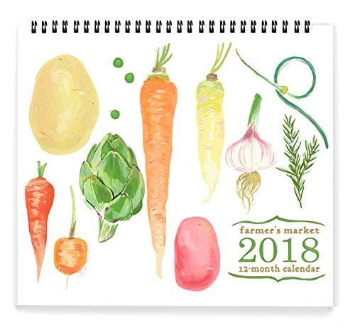 Rigel Stuhmiller 2018 Seasonal Farmer's Market Grid Wall Calendar