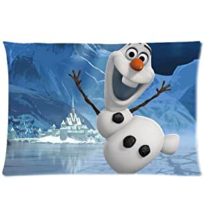 Disney Movie 3D Cartoon Frozen Cute Olaf Custom Rectangle Pillow Cases 20x30 (one side)
