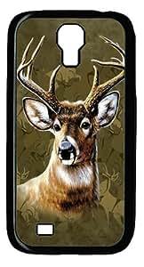 Samsung Galaxy I9500 Case and Cover -Camo Deer PC case Cover for Samsung Galaxy S4 and Samsung Galaxy I9500 ¡§C Black
