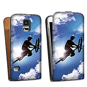 Diseño para Samsung Galaxy S5 DesignTasche black - Flying so high with my Bike in the Sky