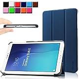 Samsung Galaxy Tab E 9.6 case - Infiland Ultra Slim Tri-Fold Case Cover for Samsung Tab E / Tab E Nook 9.6-Inch Tablet (SM-T560 / T561 / T565 / SM-T567V Verizon 4G LTE) (Tab E 9.6 Inch, Navy)