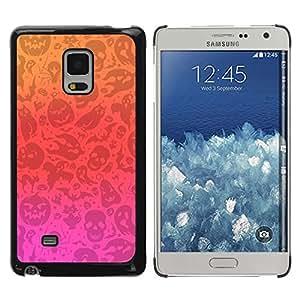FECELL CITY // Duro Aluminio Pegatina PC Caso decorativo Funda Carcasa de Protección para Samsung Galaxy Mega 5.8 9150 9152 // Pink Red Orange Autumn