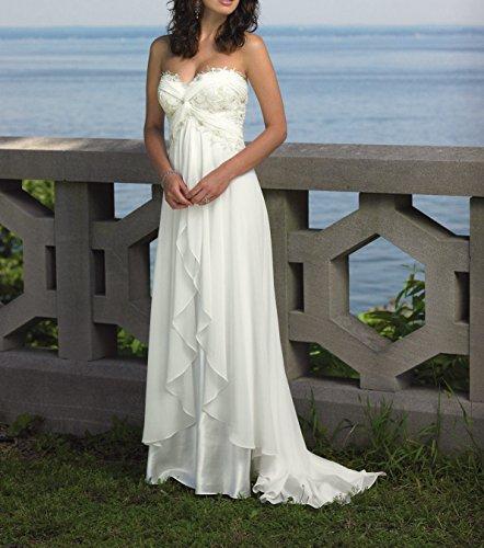Bridal novia Mujer Sin Vestido Blanco mangas de Special 7dUq7