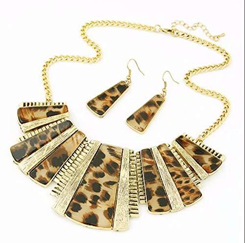 Necklace Collar Bib and Hook Drop Earrings Sets for Women Girls Women Wedding Jewelry by Lowprofile