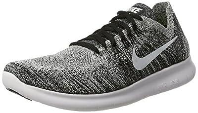 Nike Womens Free RN Flyknit 2017 Black/Volt/White Size 5.5 Running Shoe
