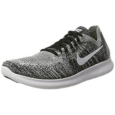 cbe9cf276f03 Nike Womens Free RN Flyknit 2017 Running Shoes Black Volt White 880844-003