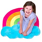 Floor Bloom Soft and Cozy Rainbow Floor Pillow (Extra Large - Skyward Collection) …