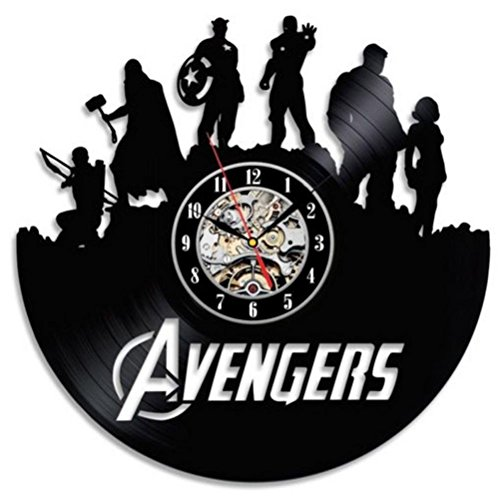 Vinyl 3D Record Clock Marvel Avengers Wall Clock
